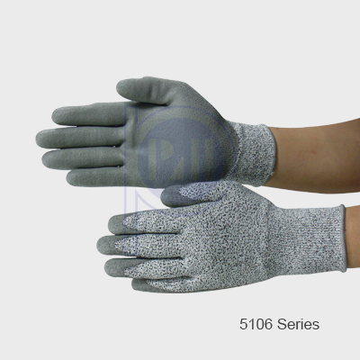Grey PU Glove